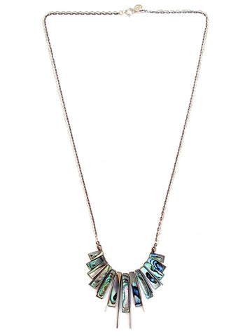 fan necklace - abalone