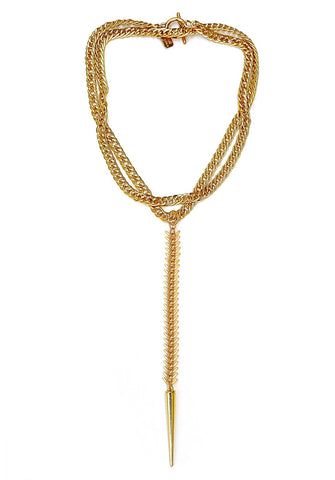 fishbone necklace - gold