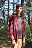 flannel shirt - red black plaid