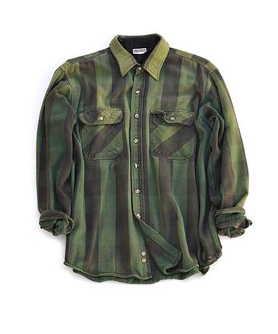 flannel shirt - forest buffalo check - men's size large