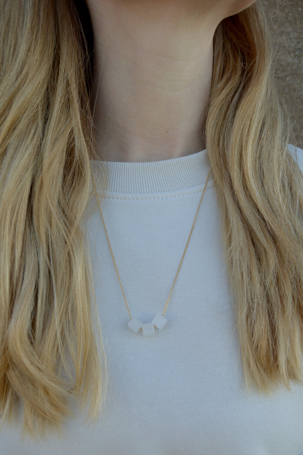geo necklace - salt