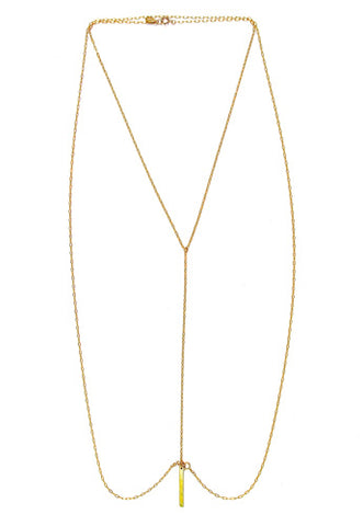 gold bar body chain-necklace