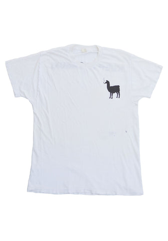 graphic tee - smoking llama