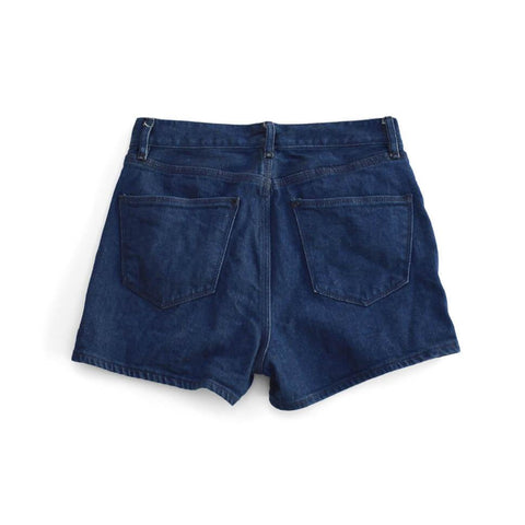 high waisted denim shorts - alexa indigo - waist size 26