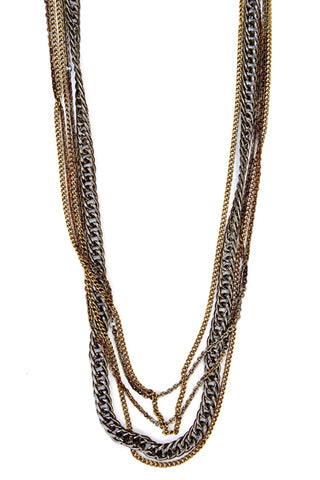 infinity necklace - gunmetal