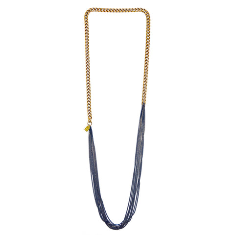 infinity necklace - navy