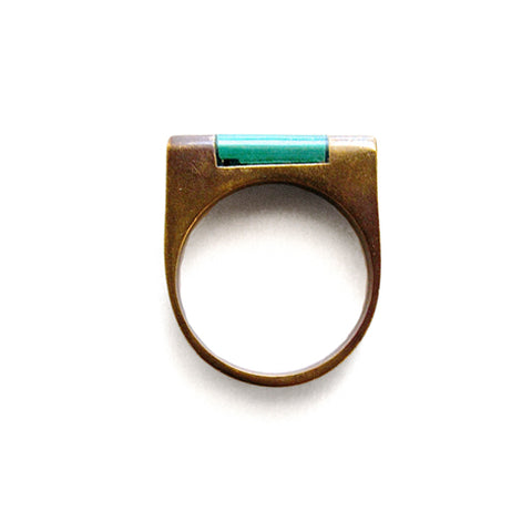 jade brass ring