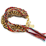 layer bracelet - antique gold harlequin