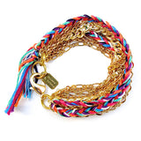 layer bracelet - gold bonfire
