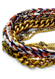 layer bracelet - antique gold sailor