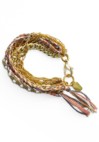 layer bracelet - gold petal dust