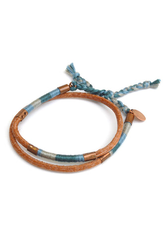 leather wrap bracelet - high tide