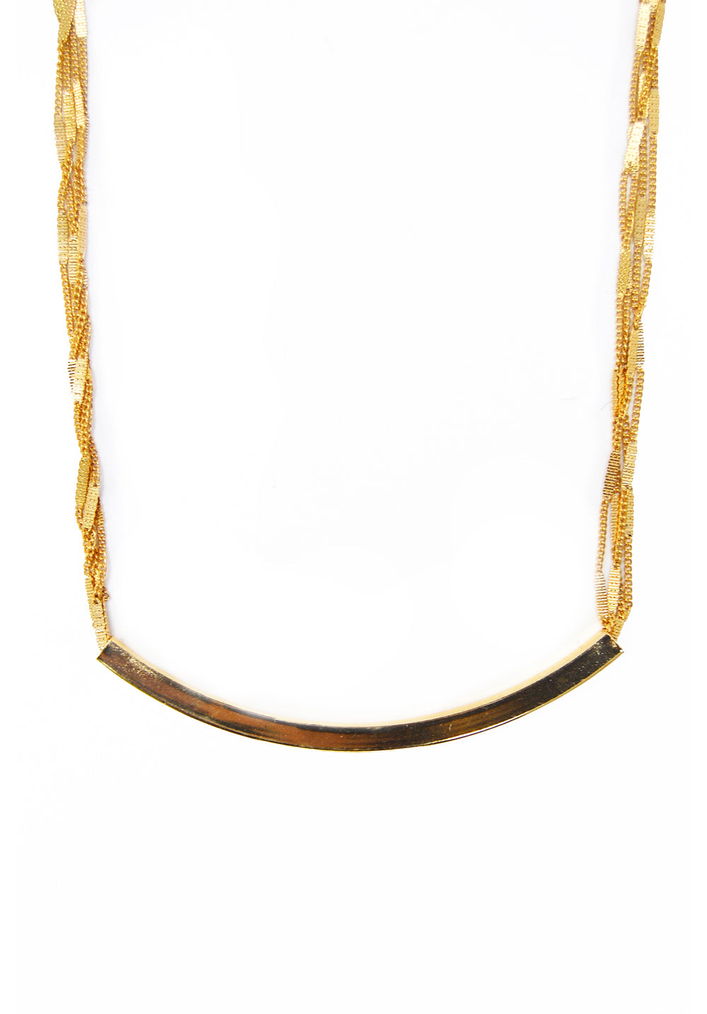 long bar necklace - gold