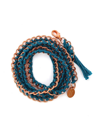 long chain - copper teal