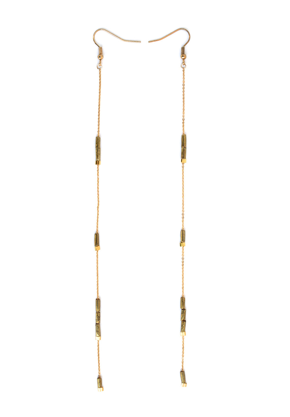 long earrings - gold