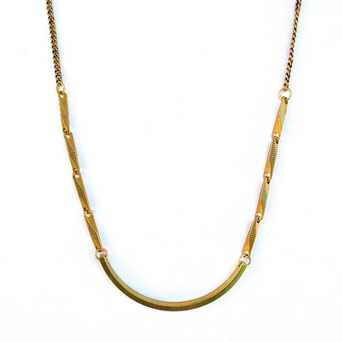 long id necklace - brass