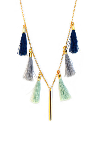 long tassel necklace - pacific
