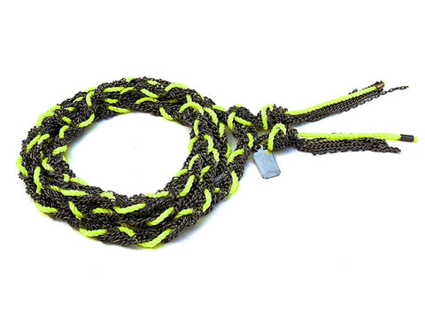 long braided chain - neon yellow