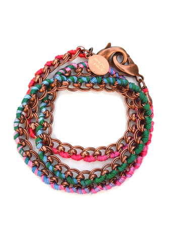 love links - antique copper venice ombré