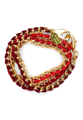 love links - gold ruby ombré
