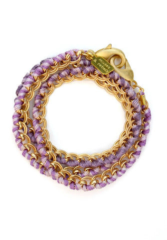 love links - satin gold lavender ombré