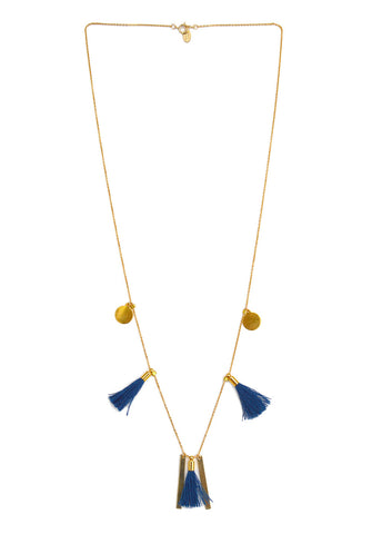 marrakesh tassel necklace - indigo