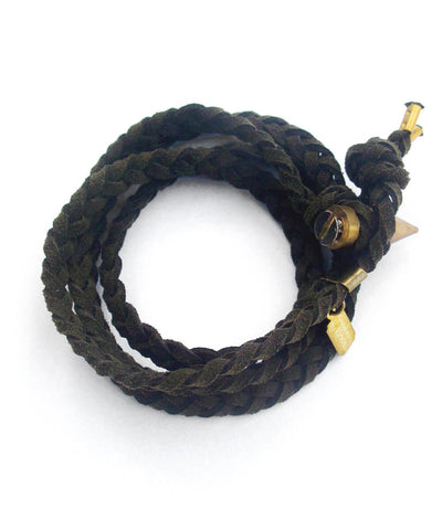 braided wrap bracelet - military