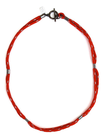 red rope necklace-bracelet