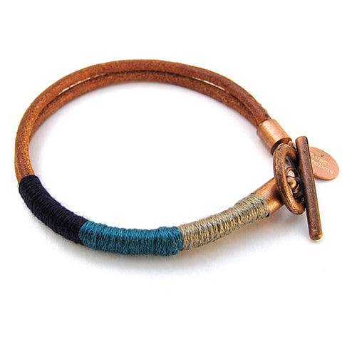 thread wrapped bracelet