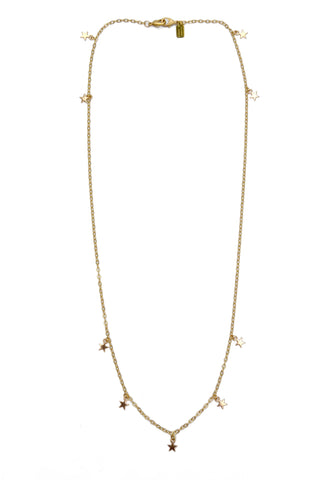 mini stars long chain - gold