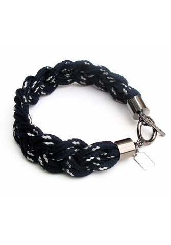 navy braid bracelet