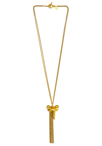 shark tooth necklace - gold