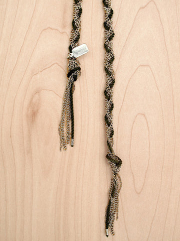 silver braided chain