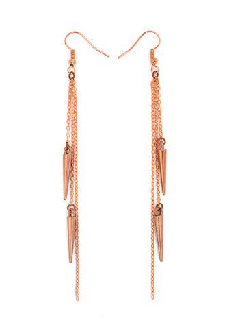 spike earrings - rose gold