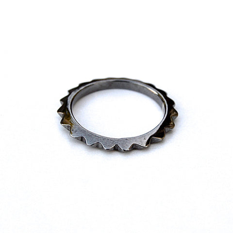 spike ring - gunmetal