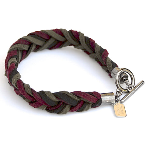 suede braid bracelet - sequoia
