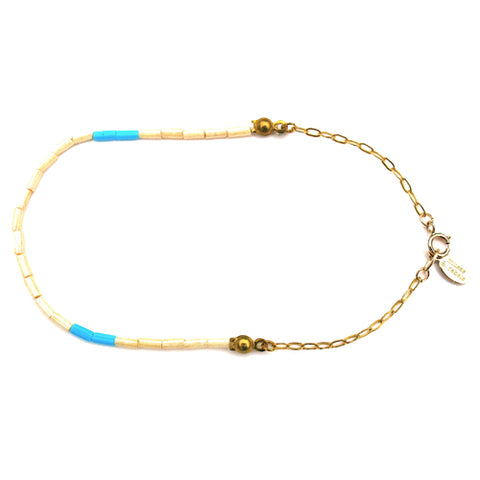 surf bead & chain bracelet