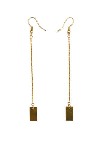 tag earrings - gold