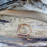 teardrop ring - rose gold