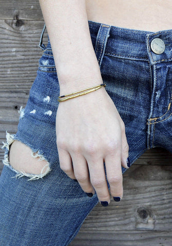 thread bracelet - brass