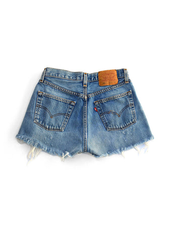 vintage denim shorts - destroy