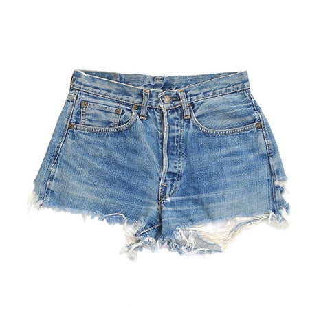 vintage denim shorts - threadbare - waist size 27