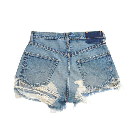 vintage denim shorts - threadbare