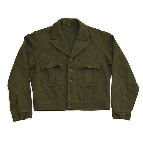 vintage military jacket - dark green - men's size B40