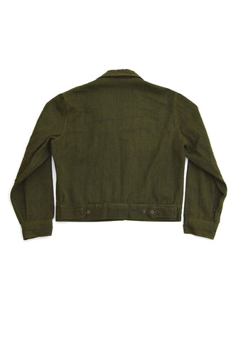 vintage military jacket - dark green