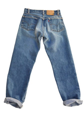 vintage straight jeans - perfect fade
