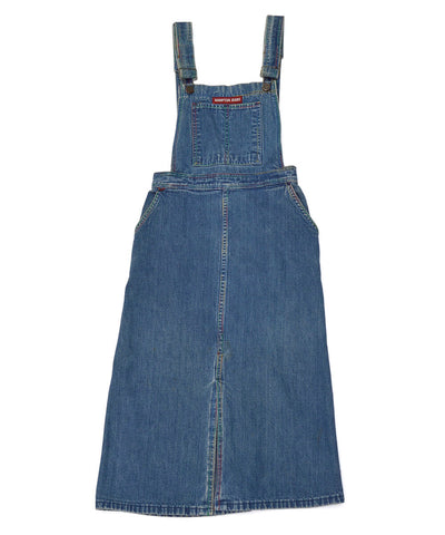 vintage denim overall dress - size small