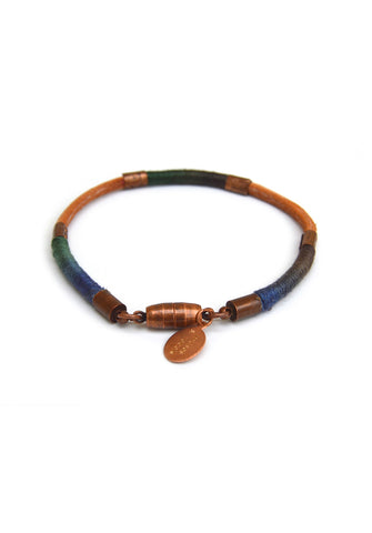 wrapped leather bracelet - mojave