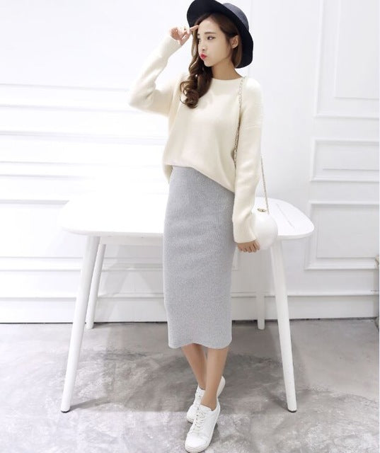 Sexy Chic Split Skirts