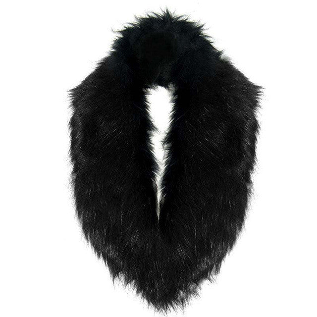 Hairy Faux Fur Collar Scarf